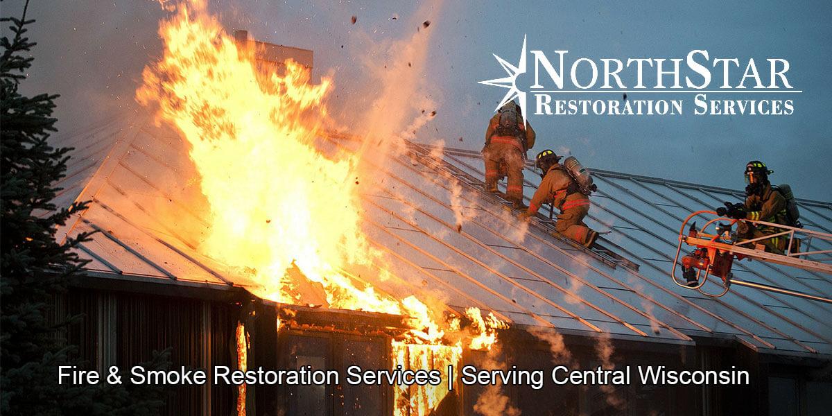 fire damage restoration in Rosholt, WI