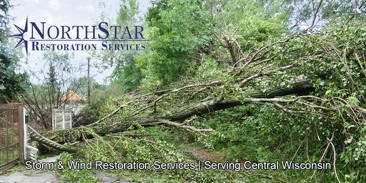 storm damage repair in Irma, WI