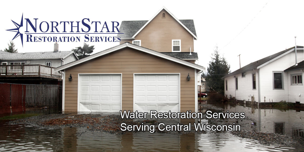 water damage restoration in Marathon City, WI
