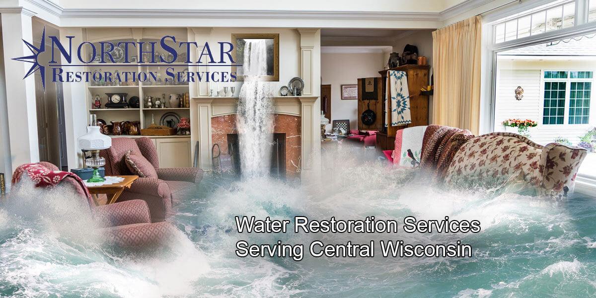 water damage restoration in Rosholt, WI