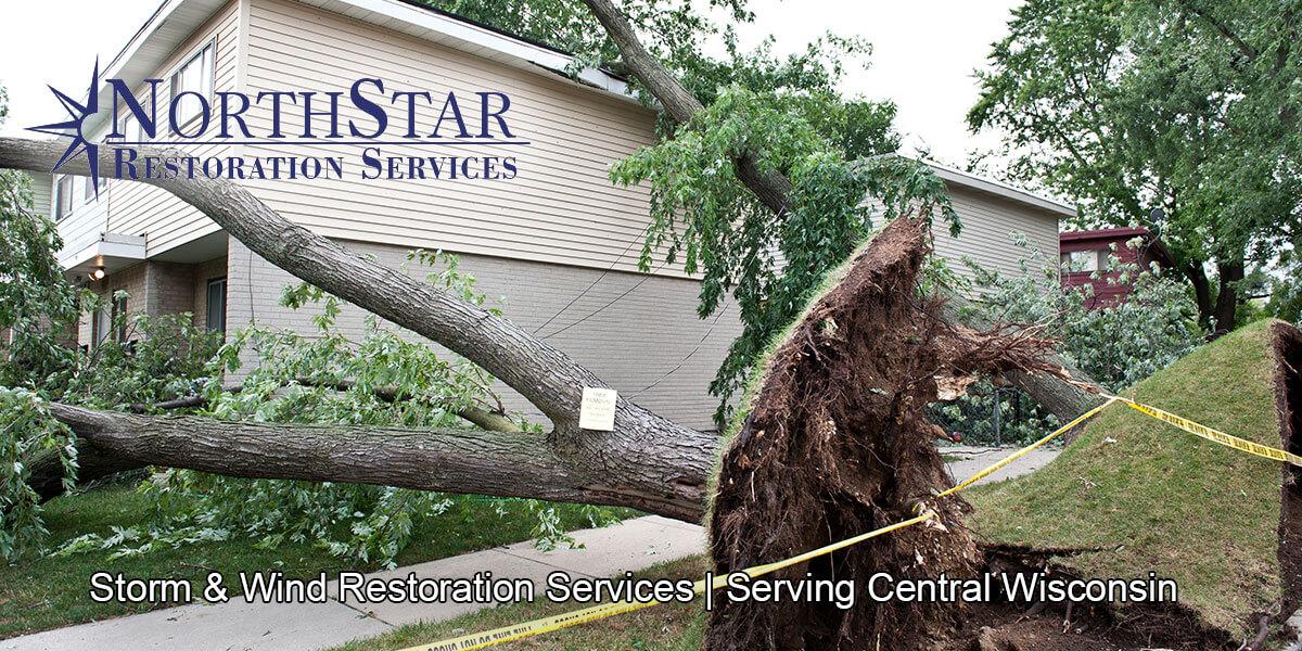 wind damage repair in Irma, WI