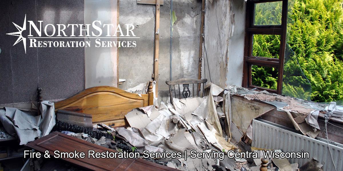 fire damage restoration in Spencer, WI