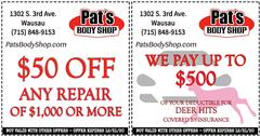 Automotive Coupons near Wausau