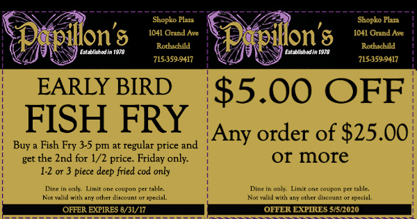 Food & Drink Coupons in Wausau Area