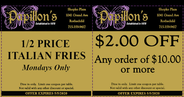 Restaurant Coupons in Wausau Area