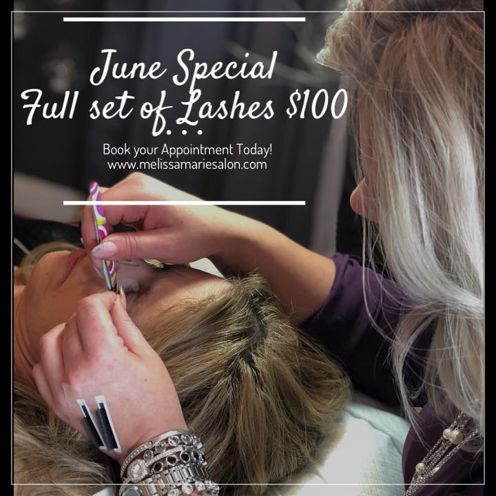 June Special Full set of Lashes $100